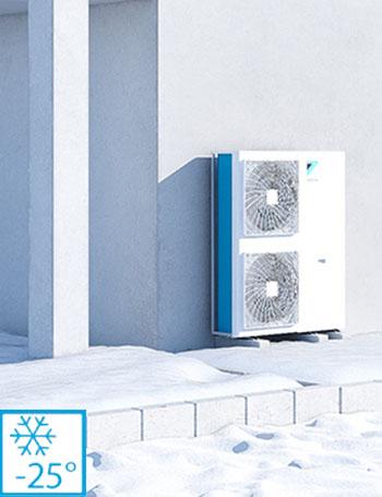 Pompa de caldura Daikin altherma 3hht temperaturi -25°C