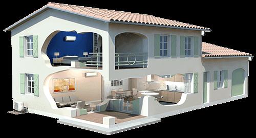 Aer conditionat daikin casa 3d