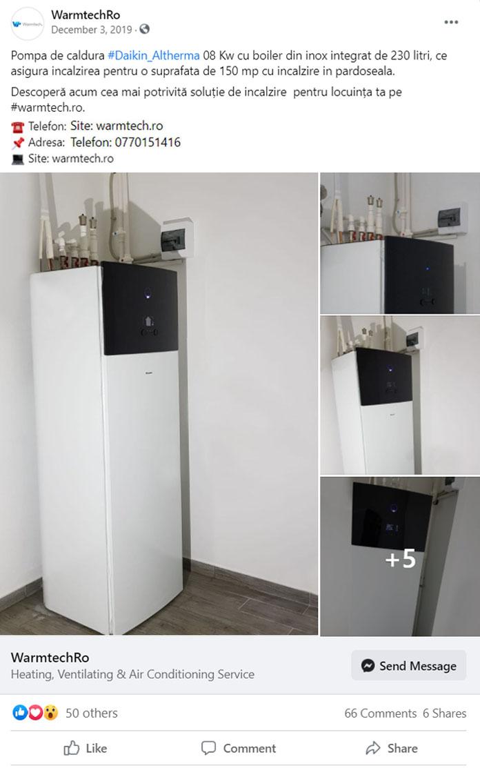 Pompa de caldura aer-apa daikin