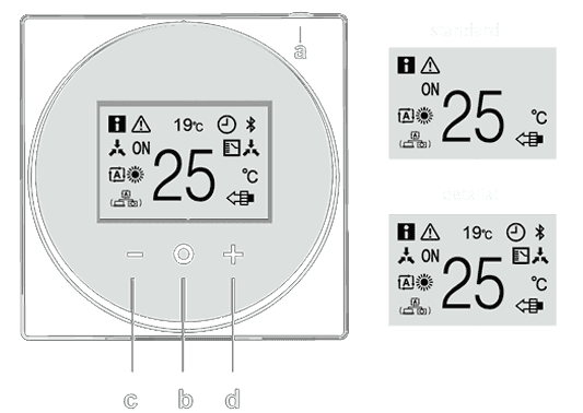 termostat pompe de caldura madoka